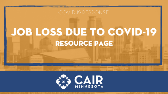 Job Loss Due To Covid 19 Cair Minnesota